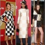 шахматные платья