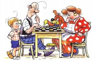 Шашки — народная игра.